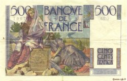 500 Francs CHATEAUBRIAND FRANCE  1945 F.34.02 TTB à SUP