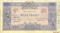 1000 Francs BLEU ET ROSE FRANCE  1920 F.36.35 B+