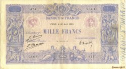 1000 Francs BLEU ET ROSE FRANCE  1925 F.36.41 TTB
