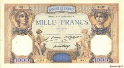 1000 Francs CÉRÈS ET MERCURE FRANCE  1927 F.37.01