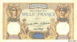1000 Francs CÉRÈS ET MERCURE FRANCE  1930 F.37.05 TTB+