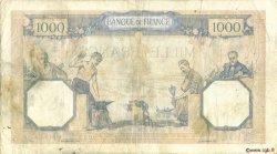1000 Francs CÉRÈS ET MERCURE FRANCE  1937 F.37.10 TB
