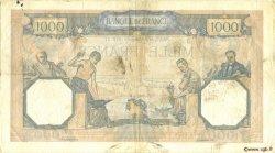 1000 Francs CÉRÈS ET MERCURE type modifié FRANCE  1938 F.38.32 pr.TTB