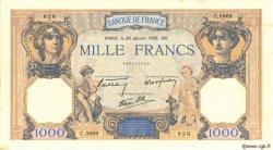 1000 Francs CÉRÈS ET MERCURE type modifié FRANCE  1939 F.38.33 SUP à SPL