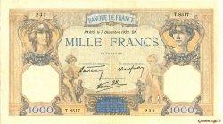 1000 Francs CÉRÈS ET MERCURE type modifié FRANCE  1939 F.38.40 TTB+