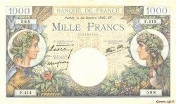 1000 Francs COMMERCE ET INDUSTRIE FRANCE  1940 F.39.01 TTB+
