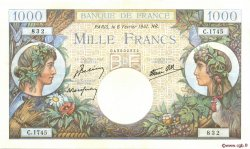 1000 Francs COMMERCE ET INDUSTRIE FRANCE  1941 F.39.04 pr.SUP