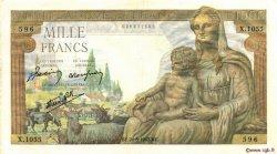 1000 Francs DÉESSE DÉMÉTER FRANCE  1942 F.40.05 TTB