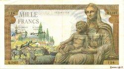 1000 Francs DÉESSE DÉMÉTER FRANCE  1942 F.40.07 TTB+