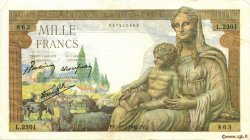 1000 Francs DÉESSE DÉMÉTER FRANCE  1942 F.40.13 TB+
