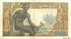 1000 Francs DÉESSE DÉMÉTER FRANCE  1943 F.40.17 TB+