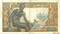 1000 Francs DÉESSE DÉMÉTER FRANCE  1943 F.40.19 TB