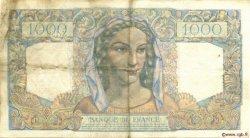 1000 Francs MINERVE ET HERCULE FRANCE  1945 F.41.09 pr.TTB