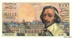 1000 Francs RICHELIEU FRANCE  1954 F.42.06 SUP à SPL