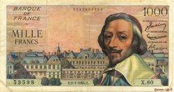1000 Francs RICHELIEU FRANCE  1954 F.42.06 pr.TTB