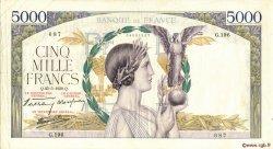 5000 Francs VICTOIRE Impression à plat FRANCE  1939 F.46.06 TTB