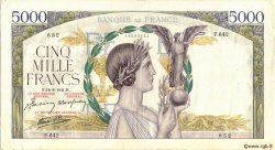 5000 Francs VICTOIRE Impression à plat FRANCE  1941 F.46.25 TTB