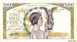 5000 Francs VICTOIRE Impression à plat FRANCE  1942 F.46.34