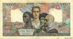 5000 Francs EMPIRE FRANÇAIS FRANCE  1945 F.47.35 B
