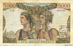 5000 Francs TERRE ET MER FRANCE  1951 F.48.05 TB
