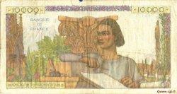 10000 Francs GÉNIE FRANÇAIS FRANCE  1956 F.50.79 TB