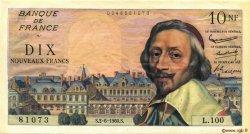 10 Nouveaux Francs RICHELIEU FRANCE  1960 F.57.08 SUP