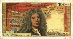 500 Nouveaux Francs MOLIÈRE FRANCE  1960 F.60.02 TB