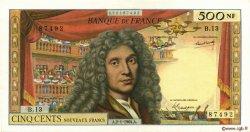 500 Nouveaux Francs MOLIÈRE FRANCE  1964 F.60.06 TTB à SUP