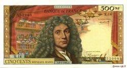 500 Nouveaux Francs MOLIÈRE FRANCE  1965 F.60.08 SPL