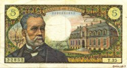 5 Francs PASTEUR FRANCE  1966 F.61.03 TB+