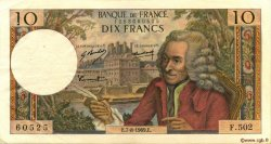 10 Francs VOLTAIRE FRANCE  1969 F.62.39 TTB+