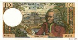 10 Francs VOLTAIRE FRANCE  1971 F.62.50 TTB+