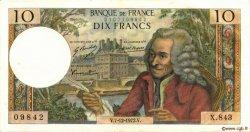 10 Francs VOLTAIRE FRANCE  1972 F.62.59 SUP