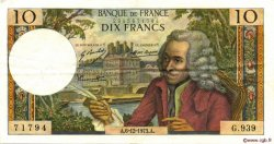 10 Francs VOLTAIRE FRANCE  1973 F.62.65 TTB à SUP