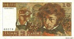 10 Francs BERLIOZ FRANCE  1974 F.63.07a TTB