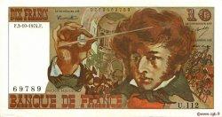 10 Francs BERLIOZ FRANCE  1974 F.63.07b SUP