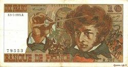 10 Francs BERLIOZ FRANCE  1975 F.63.11 TTB