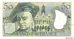 50 Francs QUENTIN DE LA TOUR FRANCE  1982 F.67.08 TTB
