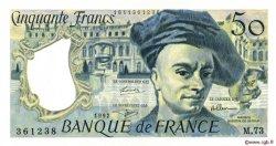 50 Francs QUENTIN DE LA TOUR FRANCE  1992 F.67.18