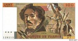 100 Francs DELACROIX modifié FRANCE  1978 F.69.01d SPL+