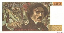 100 Francs DELACROIX modifié FRANCE  1979 F.69.02c SUP