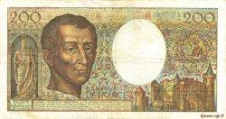 200 Francs MONTESQUIEU FRANCE  1989 F.70.09 TB+