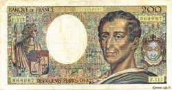 200 Francs MONTESQUIEU FRANCE  1992 F.70.12b pr.TTB