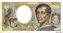 200 Francs MONTESQUIEU alphabet 101 FRANCE  1992 F.70bis.01 SUP