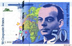 50 Francs SAINT-EXUPÉRY FRANCE  1993 F.72.02 SUP