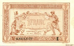 1 Franc TRÉSORERIE AUX ARMÉES FRANCE  1917 VF.03.05 pr.NEUF