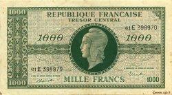 1000 Francs chiffres maigres FRANCE  1945 VF.13.02 TTB+