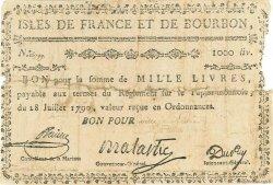1000 Livres ISLES DE FRANCE ET BOURBON  1790 P.23 B