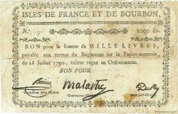 1000 Livres ISLES DE FRANCE ET BOURBON  1790 P.23 pr.TB