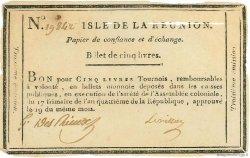 5 Livres ÎLE DE LA RÉUNION  1795 P.A10 TTB